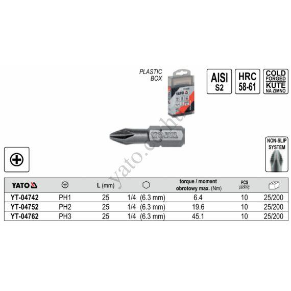 Csavarhúzóvég PH3 25mm