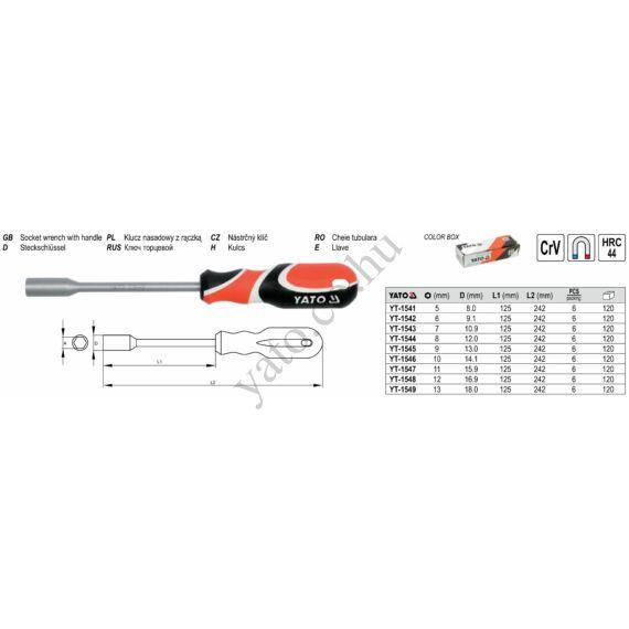 NYELES STEKK KULCS 10X125mm